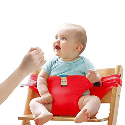 Lychee Bambino Seggiolone Coprisedile Viaggio Imbracatura di Sicurezza Portatile Infantile Sacco Cintura (Rosso)