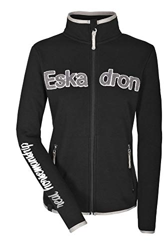 ESKADRON Fleece Zip-Shirt Women NICKY, caviar, S