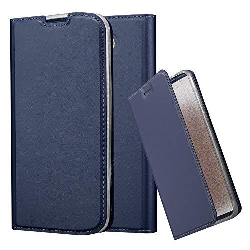Cadorabo Funda Libro para LG K10 2016 en Classy Azul Oscuro - Cubierta Proteccíon con Cierre Magnético, Tarjetero y Función de Suporte - Etui Case Cover Carcasa