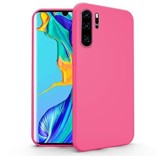 N NEWTOP Cover Compatibile per Huawei P30 PRO, Custodia TPU Soft Gel Silicone Ultra Slim Sottile Flessibile Case Posteriore Protettiva (Fucsia)