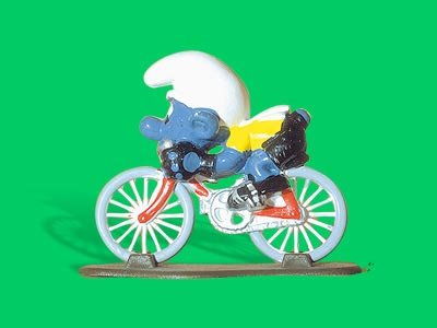 4.0501 40501 Cyclist Smurfs Puffo Ciclista Box 6A