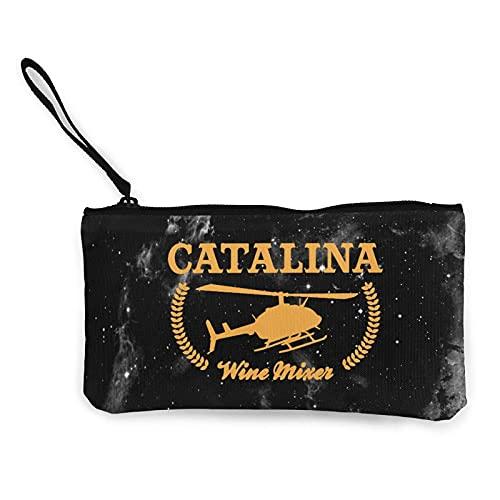 JOWV Damen Clutches Catalina Wine Mixer Tragbare Kleine Brieftasche Reißverschlüsse Reisekosmetik Leinwand Münzgeldbörse Schlüsselhalter 8.5 X 4.5