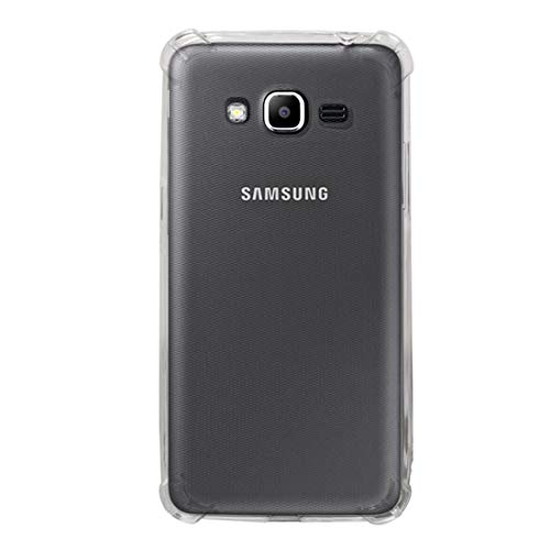 LICHONGGUI Teléfono Protector Funda Protectora de TPU a Prueba de Golpes for Galaxy J2 Prime (Transparente)