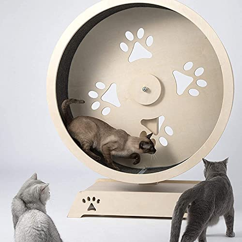 Round Cat Treadmill with Ferris Wheel, Pet Furniture Cat Tower with Scratching Posts Pet Play House Running Spinning Toy for Cats Movement Wheel