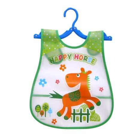 Voor baby en peuters cartoon-Babyslabbetjes Eva waterdichte slabbetjes Newborn eetschort spuugdoekjes infant meisje jongen dieren sjaal Saliva handdoek druk schort paard