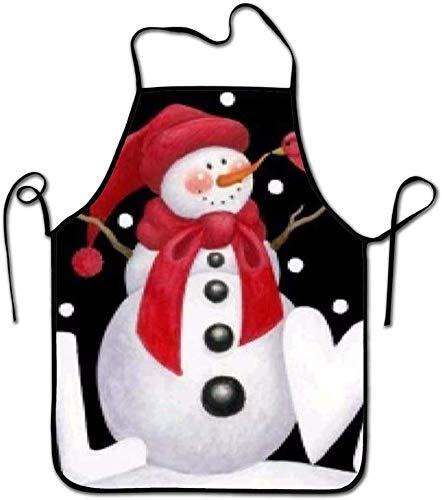 N\A Liebe Schneemann Pinterest Schneemann Kochschürze, lustige Grill- oder Küchenschürzen, maschinenwaschbar, hochwertige Lätzchenschürzen für Frauen und Männer, ideal für Küche, Partys, Garten