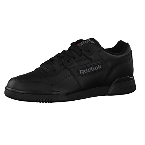 Reebok Workout Plus, Herren Sneakers, Schwarz (Black/Charcoal), 44 EU