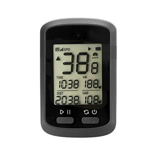 Lshbwsoif Ciclo Computadoras Bicicleta Ordenador G+Velocímetro inalámbrico GPS Bicicletas Odómetro Velocímetro