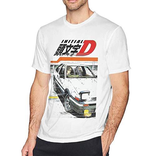 Personalidad de la Moda de los Hombres de algodón Initial D Fujiwara Takumi Camisetas Suaves para Hombre Camisetas Superiores de Manga Corta Personalizadas
