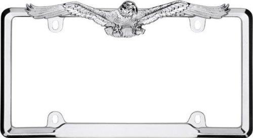 Cruiser Accessories 22330 Eagle License Plate Frame, Chrome