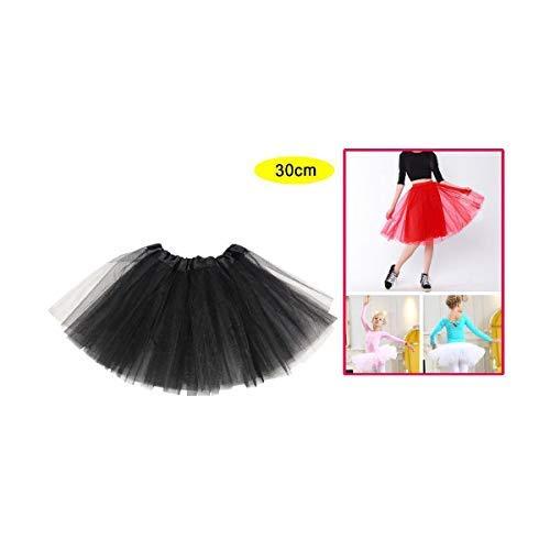 Lemon Tree SL Tutu Rock voor dames en meisjes, balletrok, zwart dansaccessoire, minirok voor dames. Maat: 30 cm, zwart.