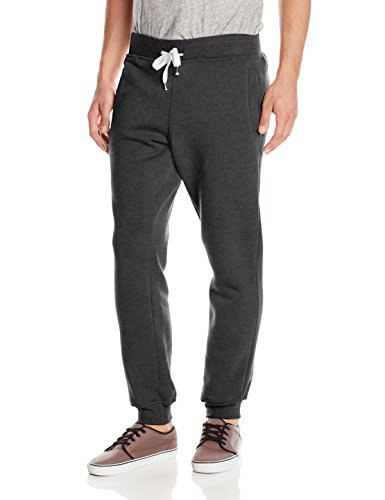 Southpole Men's Active Basic Jogger Fleece Pants, Heather Charcoal, Large