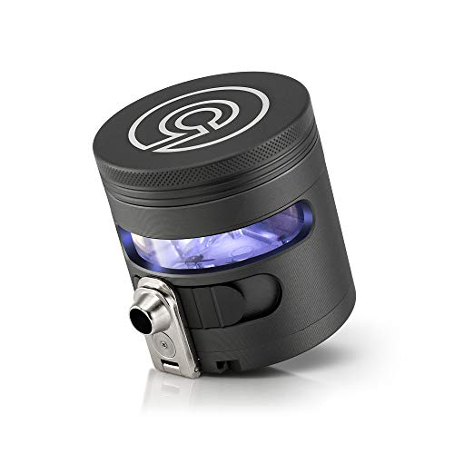 """Tectonic9 Manual Herb Grinder Herbal Spice Electric Automatic Dispenser Large 2.5"""" Aluminum Alloy (Gray)"""