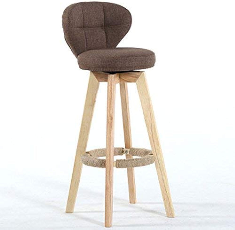 CWJ Chair Stool - Bar Chairs Bar Stool High Stool Dining Chair Wood Chair Height Modern Style Adult Home Stool