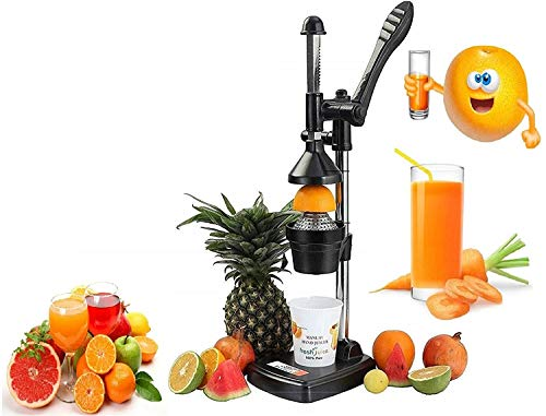 GONCHAK HUB Aluminium Hand Press Citrus Fruit Juicer,Cold Press Juicer, Manual HandPress Juicer and Squeezer for Fruits and Vegetables - Big (Made in India) (Black)