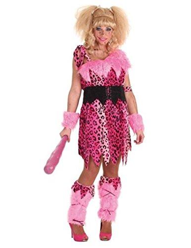 L&L Disfraz de cavernicola Rosa Mujer