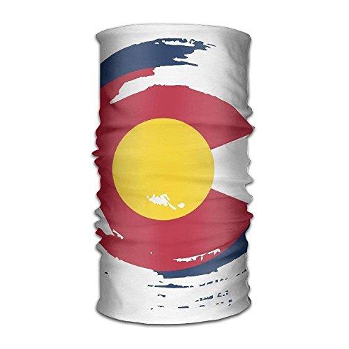 TEPEED Unisex Stylish Colorado Flag Tornado Quick Dry Microfiber Headwear Outdoor Magic Bandana Neck Gaiter Head Wrap Headband Scarf Face Mask Ultra Soft Elastic Handscarf