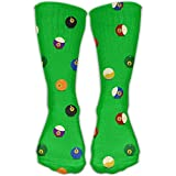 hgfyef Color Billiards Balls Unisex Athletic Breathable Socks Ankle Socks Casual Sport 30cm Socks