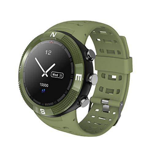 HOMECCLL Outdoor-Sport Smart Watch, IP68 wasserdichte Technologie Smartwatch Handgelenk Pulsmesser Schrittzähler Schlaf Analyse Kalorienzähler,Green