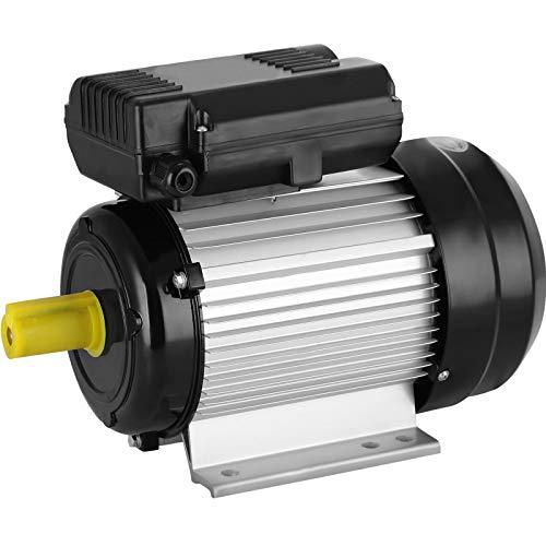 Mophorn Elektromotor einphasig 2.2KW 3HP Kondensatormotor 220V Single Phase Elektro Motor Luftdruck motor Druckluftkompressor (2.2KW)