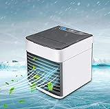 baozge Mini Aire Acondicionado Espacio Personal Refrigerador de Aire con Cubitos de Hielo Aire Acondicionado portátil rápido Ventilador Oficina en el hogar Dormitorio Refrigerador de Aire