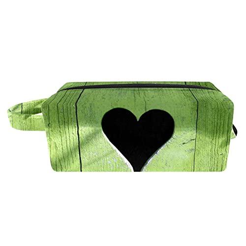 Reise Make Up Tasche Portable Kosmetiktasche Schmuckkästchen Damen schmuckaufbewahrung für Kosmetika Make-up Pinsel Ringe Ohrringe Halsketten Pflegendes Baumloch 21x8x9 cm