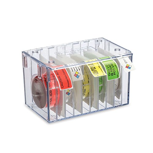 Stack-n-Connect Label Dispenser 10-Roll Includes 9 dividers/Accommodates 500- and 1000-label Rolls 8.25