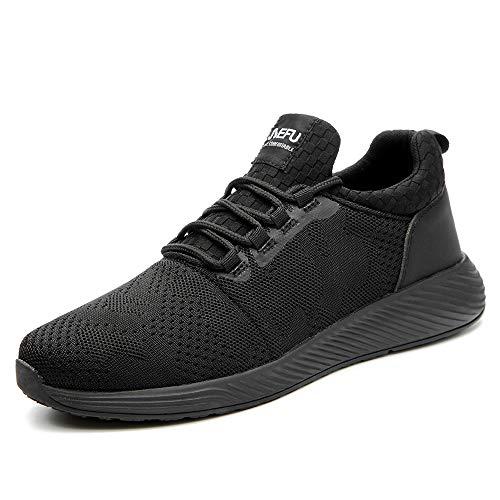 Ulogu Arbeitsschuhe Sicherheitsschuhe Herren Damen Stahlkappe Sneaker Anti-Piercing Industrie Schutzschuhe Wanderschuhe Größe 35-48, Schwarz(all Black), 44 EU