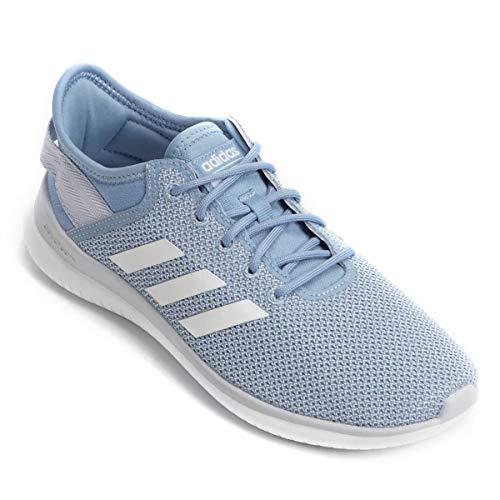 adidas Cloudfoam Qtflex, Zapatillas de Entrenamiento Mujer, Azul (Ashblu/Ftwwht/Aerblu Ashblu/Ftwwht/Aerblu), 42 2/3 EU
