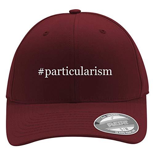 #Particularism - Men's Hashtag Flexfit Baseball Cap Hat, Maroon, Large/X-Large