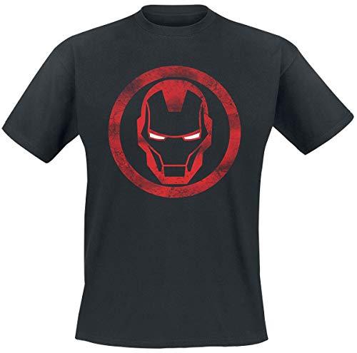 Iron Man Sign Männer T-Shirt schwarz XXL 100% Baumwolle Fan-Merch, Film, Marvel Comics, Superhelden