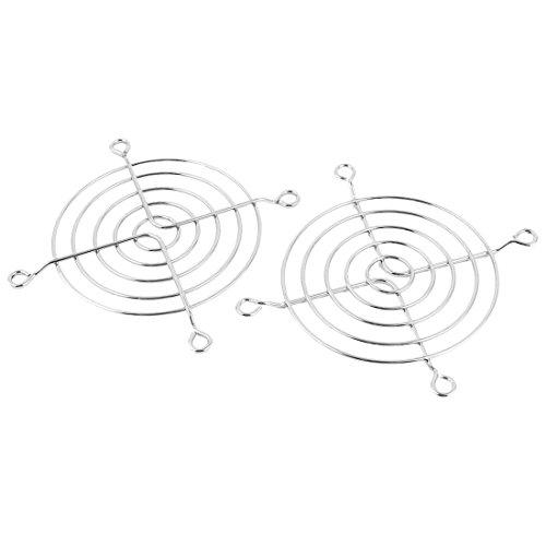 TOOGOO(R) Ventilador Enfriador Proteger Rejilla 2 Piezas Alambre De Metal Protector Dedos Proteger Rejilla para 90mm PC Ventilador Enfriador