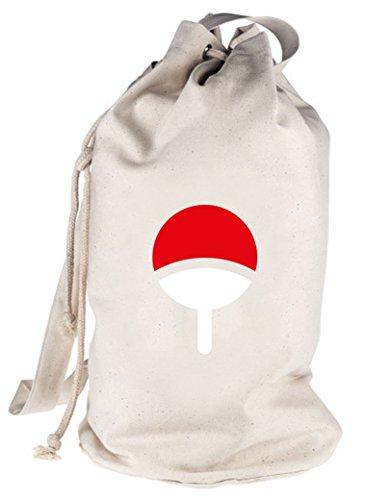 Shirtstreet24, Familie Uchiha, bedruckter Seesack Umhängetasche Schultertasche Beutel Bag, Größe: onesize,natur