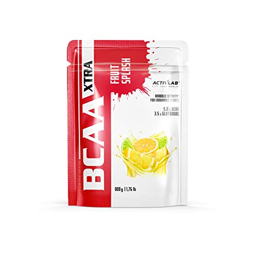 Activlab BCAA Xtra Fruit Splash - 1 Pack x 800g - Branched Chain Amino Acids - Great Amount of BCAA - Good Solubility - Muscle Regeneration (Lemon Lime)