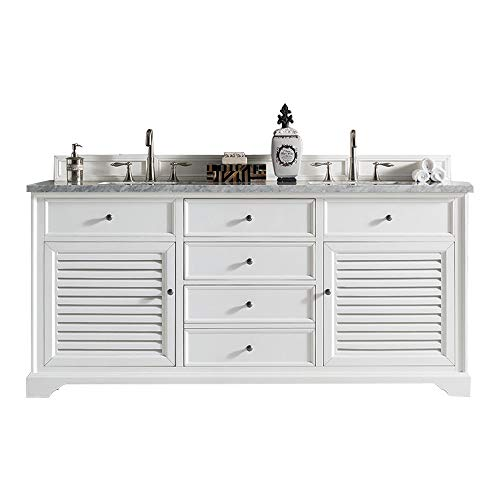 Lowest Prices! 72 in. Double Vanity Cabinet in Cottage White Finish