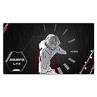 とある科学の超電磁砲マウスパッド ゲーミング キーボードパッド アニメ マウスパッド 疲労軽減ゲームeスポーツ手首かわいい女の子漫画ショートカットデスクトップキーボードライティングデスクオフィスコンピューターパッド学生デスクパッド800x300x3mm 900x400x3mm-A_900*400*3mm