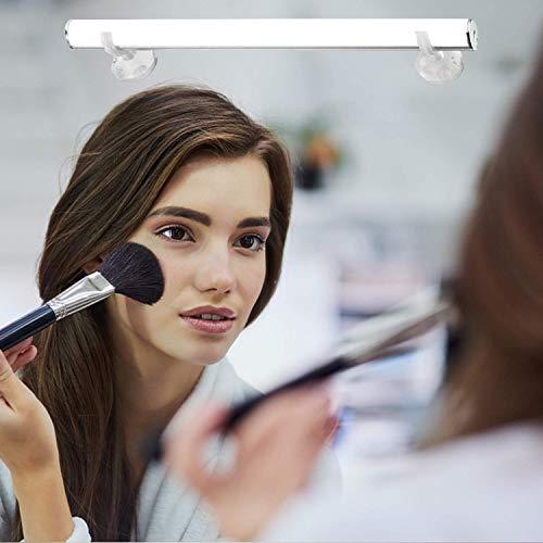 Luces de Espejo Maquillaje, LED Lámpara de Espejo Ketom 6W Blanca Fría 6500K Lámparas para Espejo Carga USB Luces Espejo Regulable Lámpara LED de Espejo para Iluminación de Espejo de Baño o Tocador