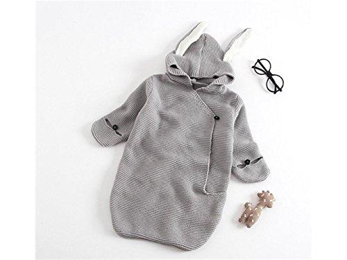 Bébé Cadeau doux mignon bébé Lange en tricot Sac de couchage Couette Anti-kick Sleepsacks Convient pour 0–6 mois