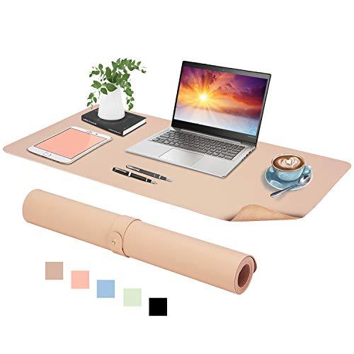 Podazz Skórzana podkładka na biurko, 80 cm x 40 cm skóra PU mata na biurko, gładka podkładka pod mysz do laptopa, wodoodporna osłona na biurko do biura / do gier domowych (cena)
