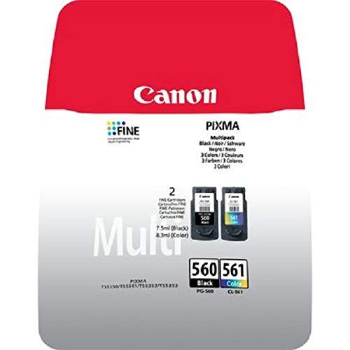 Canon Tintenpatrone PG-560/CL-561 BK/C/M/Y Multipack - Original für Tintenstrahldrucker