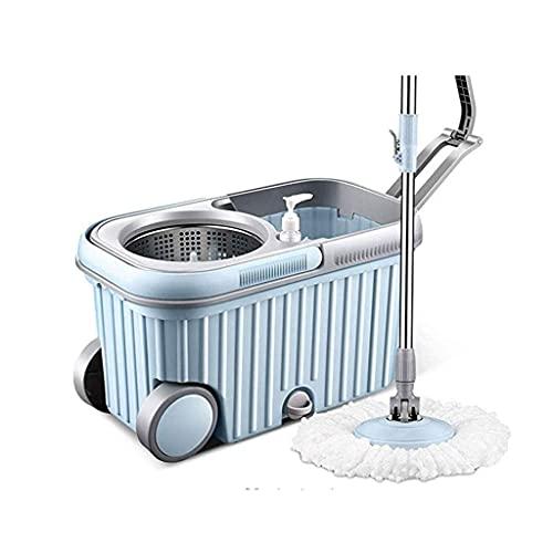 Mopa giratoria, sistema de limpieza de piso Wringer, recambios de fregona de microfibra para limpieza de piso en casa y cocina