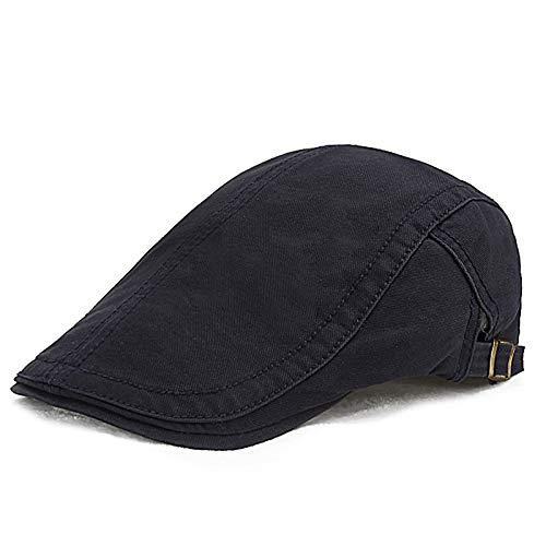 sdssup Hut männliche Kappe einfach und vielseitig High-End-Literatur Forward Cap tibetischen blau einstellbar