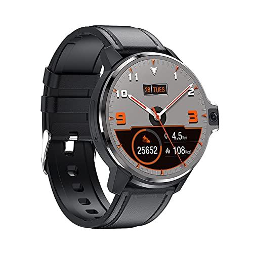 Lazzzgua 4G Smart Watch con Doble cámara y Juegos, BT SmartWatch 2.8'Pantalla táctil Android 9.1 SmartWatch con cámara de 5MP 1050mAh batería, 4GB + 64GB de reconocimiento Facial