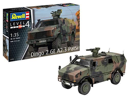 Revell REV-03284 Dingo 2 GE A2.3 PatSi, Transportfahrzeug der Bundeswehr, Automodell 1:35, 17,5 cm Toys, unlackiert, 1/35