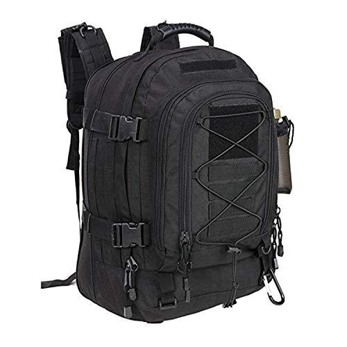 Genrics - Mochila para exteriores (gran capacidad, mochila táctica), diseño de ejército, Camuflaje Escorpión Negro