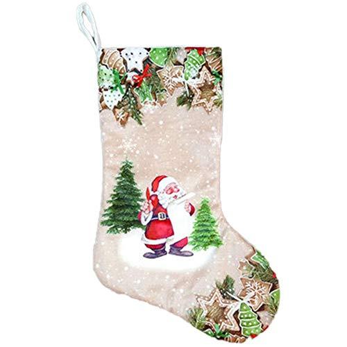 FaLAIws Weihnachtsstrumpf Nikolaus Schneemann Socke Geschenktüte Süßigkeiten Geschenktüte Ornamente