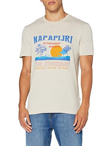 Napapijri Herren SENAKI T-Shirt, Mehrfarbig (Graphic FU5 FU51), Large (Herstellergröße:L)