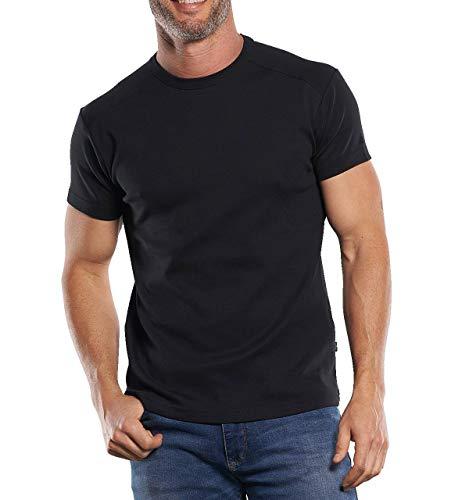 engbers Herren My Favorite T-Shirt in aktueller Saisonfarbe, 29913, Schwarz in Größe L