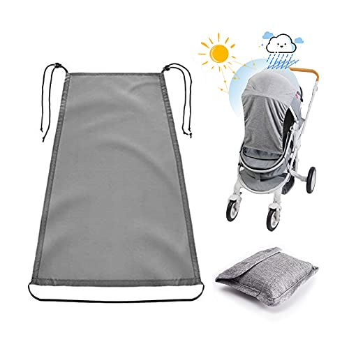Universal Sun Shade for Pram,Pram Sun Shade with UV Protection Cover 50+ Waterproof and Up and Down Slide Function,Buggy Sun Shade,Pram Shade for Pushchair,Baby Stroller,Carrycot(Grey)