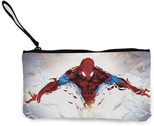 Spiderman portemonnee (canvas Zipper Make Up Pouches) met armband voor mobiele telefoon